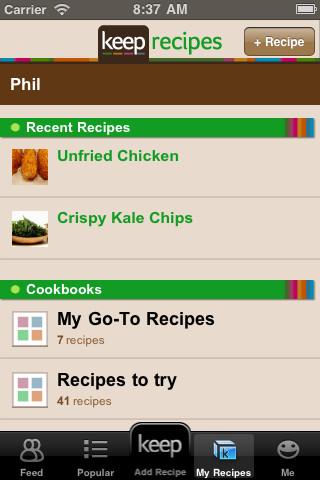 Accidental Locavore Keep Recipes App
