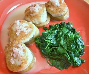 Accidental Locavore Scallop Potato
