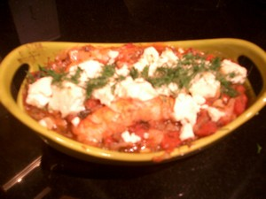 Accidental Locavore Shrimp With Feta