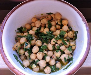 Accidental Locavore Chick Pea Salad