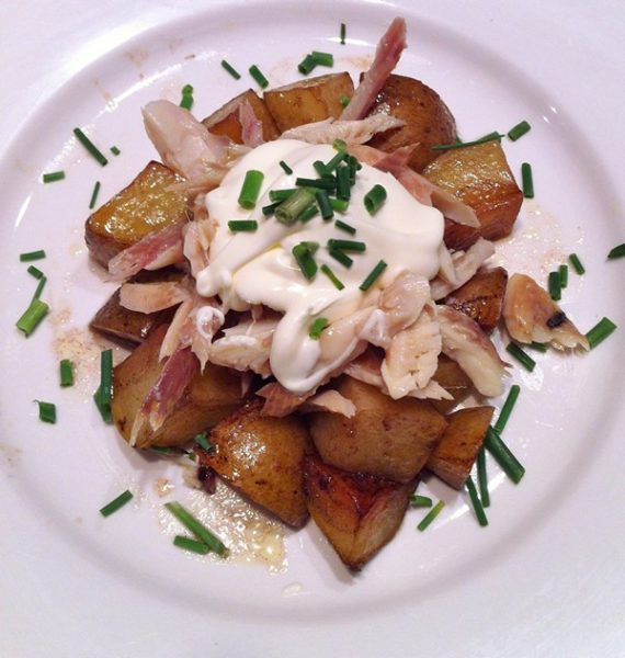 smoked trout salad with potatoes