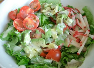 Accidental Locavore Salad With Xanthan Gum Dressing