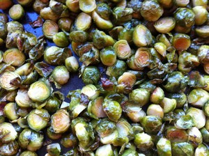 Accidental Locavore Roasted Sprouts