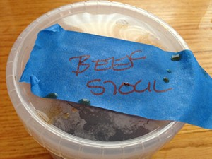 Accidental Locavore Labeled Beef Stock