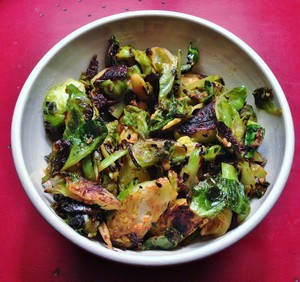 Accidental Locavore Sriracha Brussels Sprouts