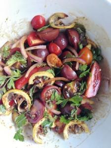 Accidental Locavore Ottlenghi Tomato Salad
