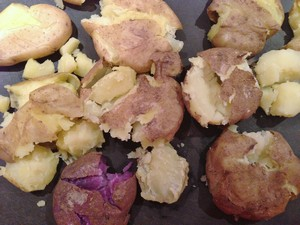 Accidental Locavore Mixed Smashed Potatoes