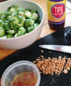 Accidental Locavore Brussels Sprout Prep