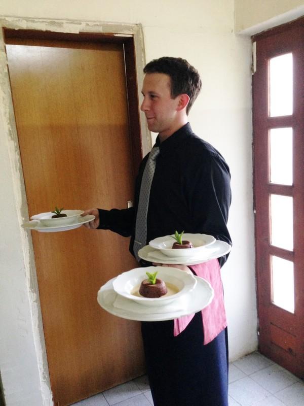 Accidental Locavore Toklarija Serving Dessert