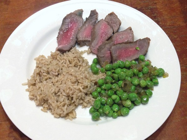 Accidental Locavore Spicy Peas and Steak