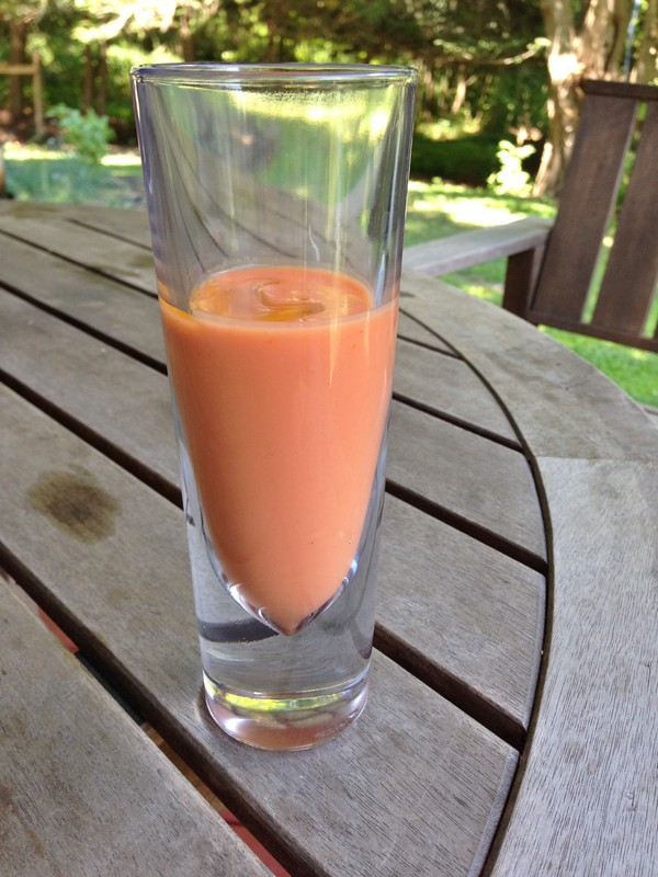 Accidental Locavore Drinking Gazpacho