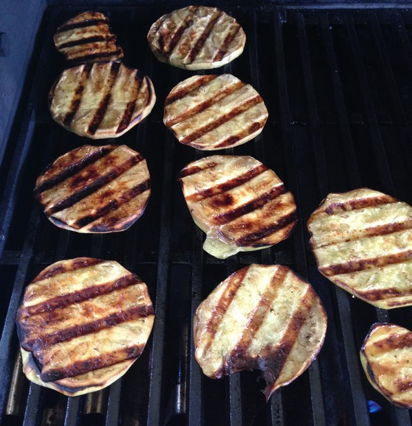 Accidental Locavore Grilled Eggplant Slices