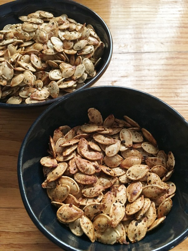 Accidental Locavore Roasted Spiced Pumpkin Seeds