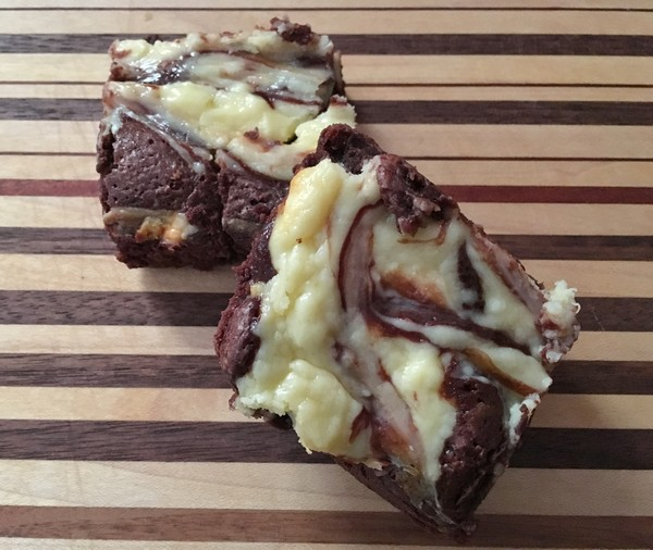 Accidental Locavore Cheesecake Brownies