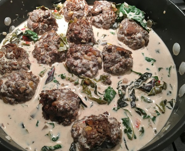 Locavore Nopi Meatballs Cooking