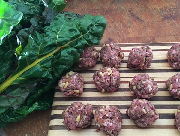Locavore Nopi Meatballs and Chard