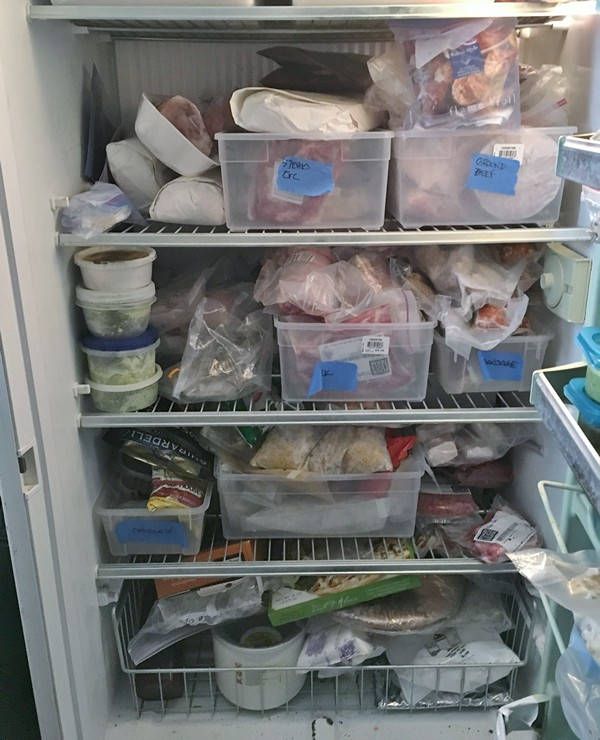 Accidental Locavore Freezer Inside