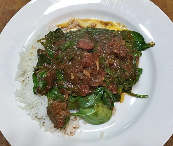 Accidental Locavore Lamb and Spinach Curry