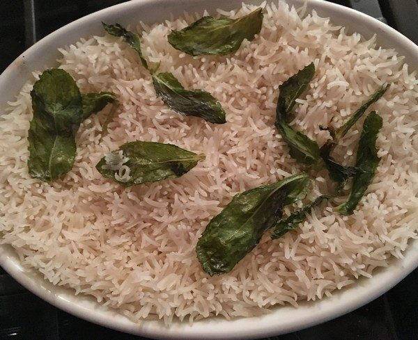 Accidental Locavore Baked Rice With Mint