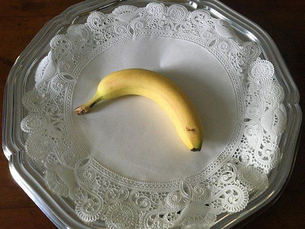 Accidental Locavore Banana on Tray
