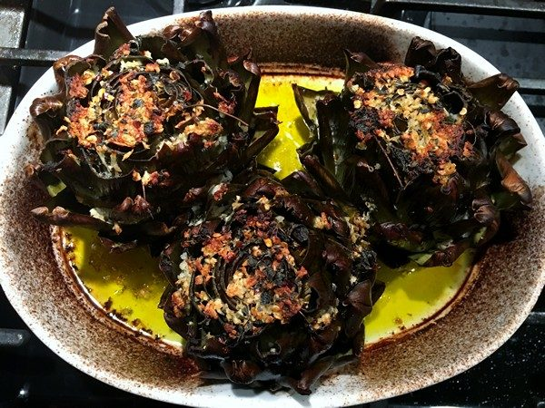 Accidental Locavore Roasted Artichokes