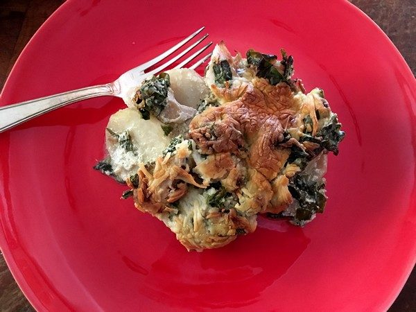 Accidental Locavore Non GMO Spinach Gratin