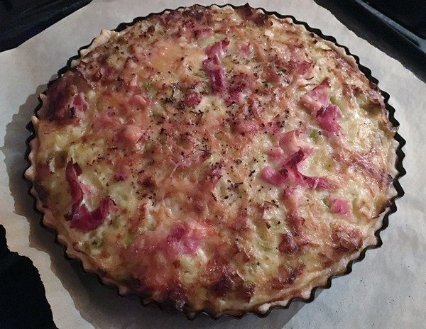 Accidental Locavore Leek Tart Baked