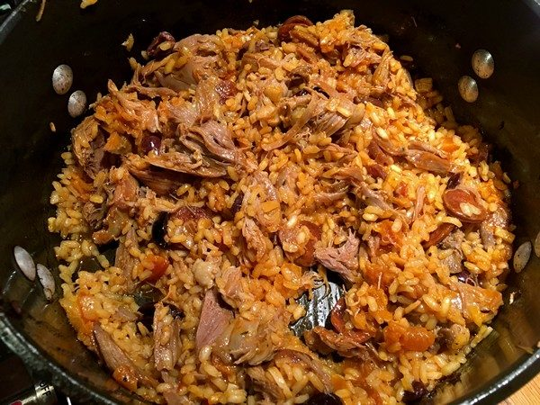 Accidental Locavore Duck Rice Cooking